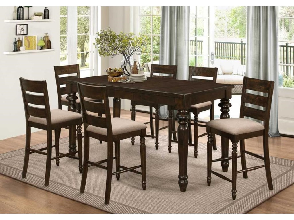 New Classic Annandale7 Piece Counter Table Set