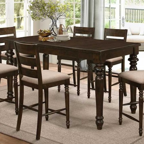 New Classic Annandale Rectangular Counter Table with Turned Legs