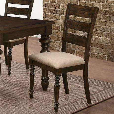 New Classic Annandale Ladder Back Side Chair with Upholstered Seat Cushions