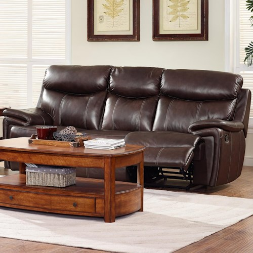 New Classic Aria Casual Dual Recliner Sofa with Pillow Arms