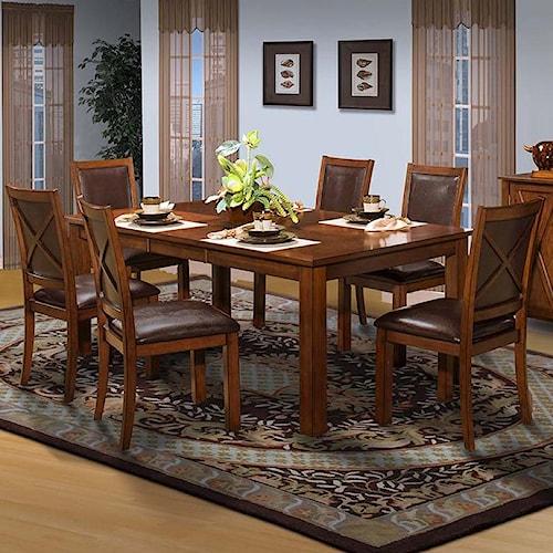 New Classic Aspen Standard Rectangle Dining Table Set