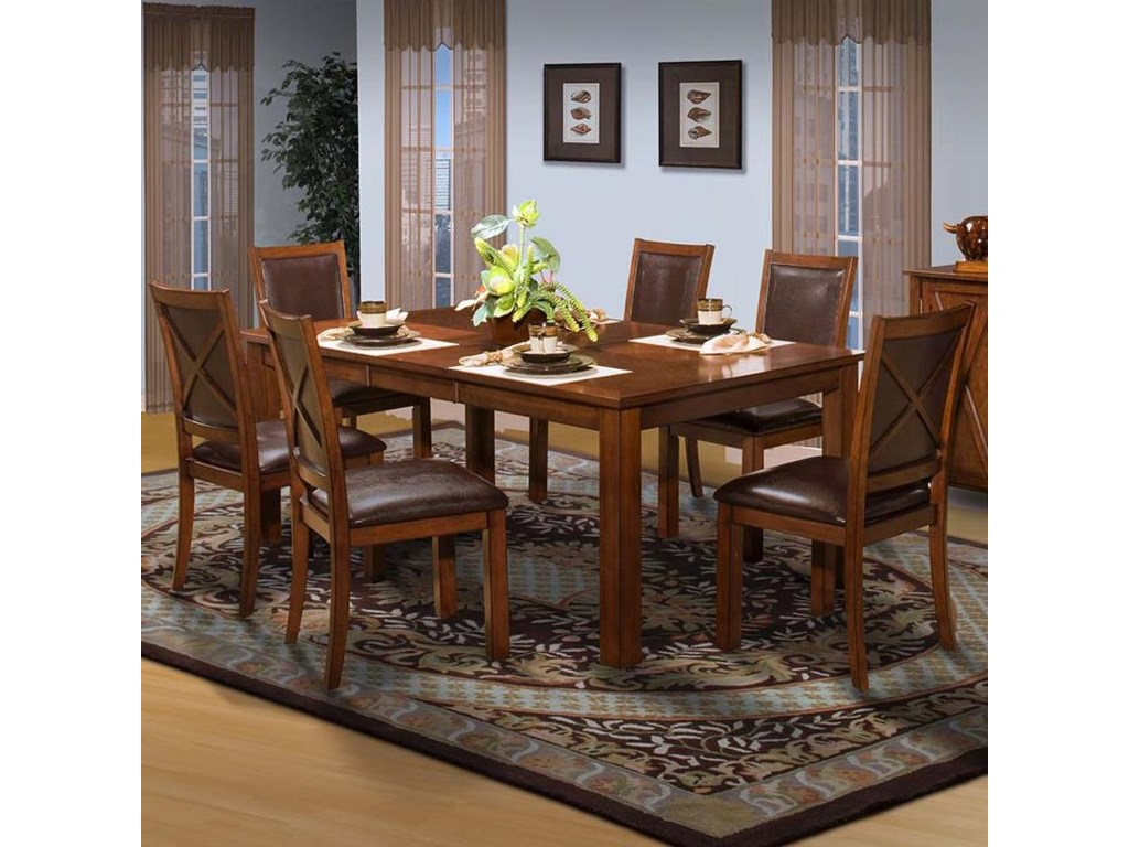 New Classic AspenStandard Rectangle Dining Table Set