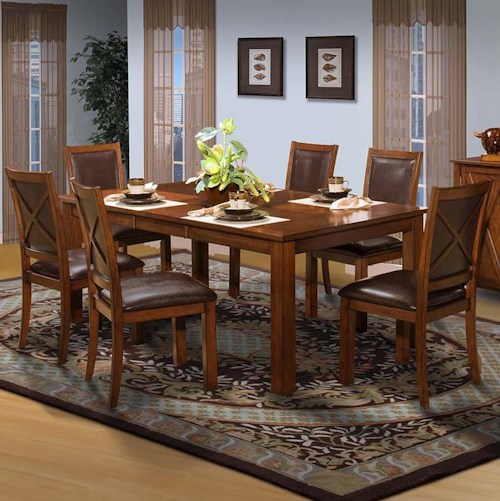 New Classic Aspen Standard Rectangle Dining Table Set