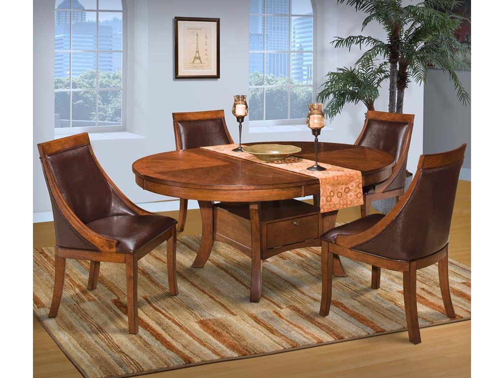 New Classic AspenRound Dining Table Set w/ Base