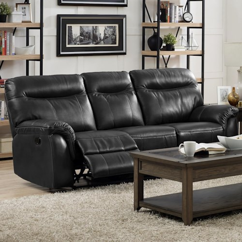 New Classic Atlas Casual Power Reclining Sofa with Full Chaise Cushions