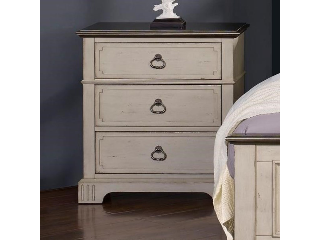 New Classic Avalon Cove3 Drawer Nightstand