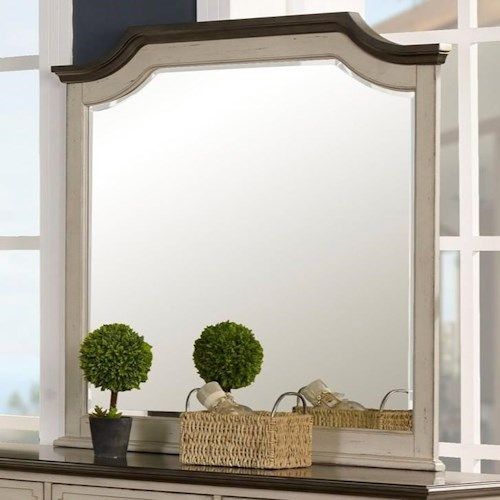 New Classic Avalon Cove Relaxed Vintage Dresser Mirror with Beveled Edge