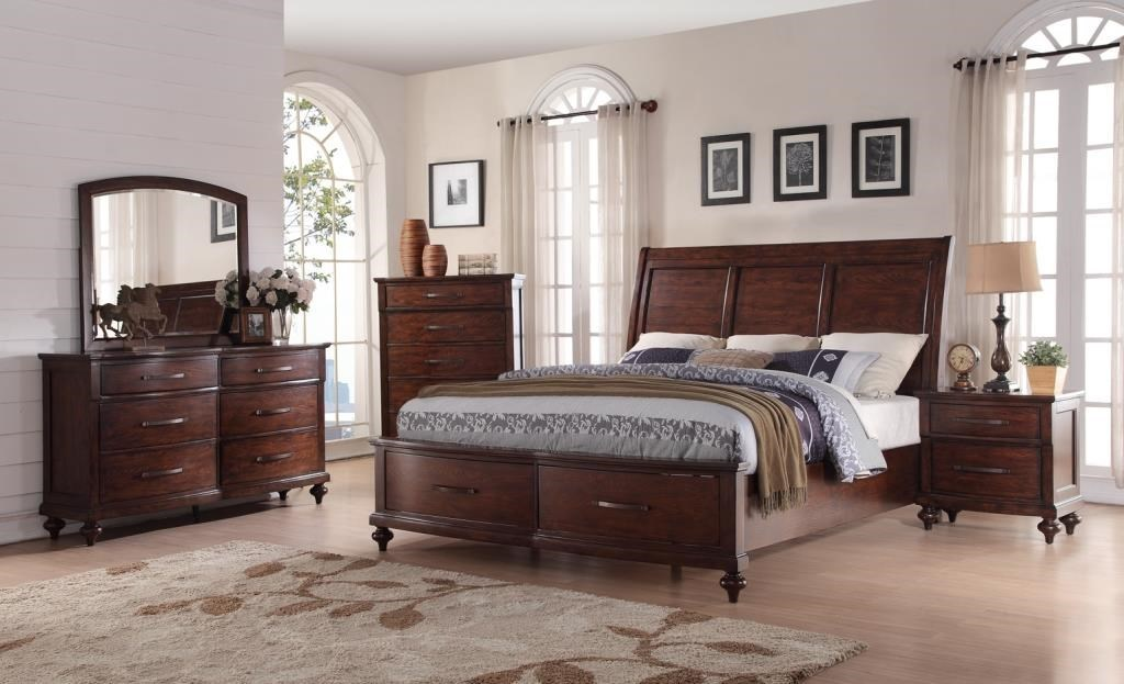 Queen Bed With Drawers Part - 47: New Classic La Jolla NEWC-GRP-B1033B-QUEENBED Queen Storage Bed