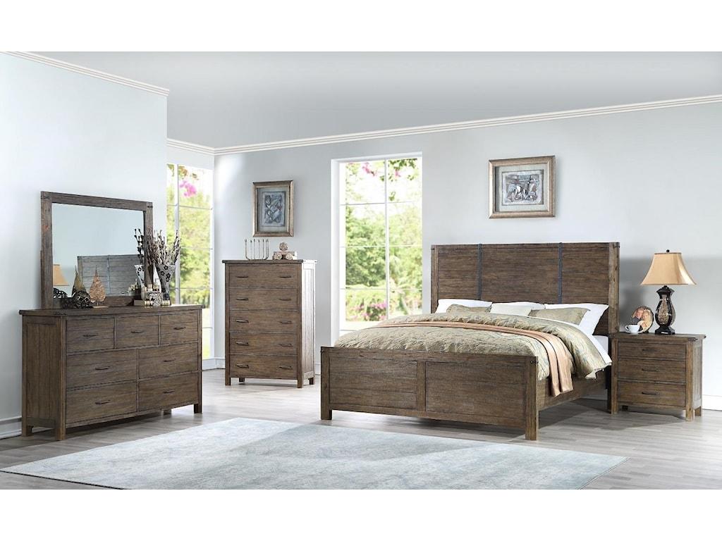New Classic GalleonQueen Bed, Dresser, Mirror & Nightstand