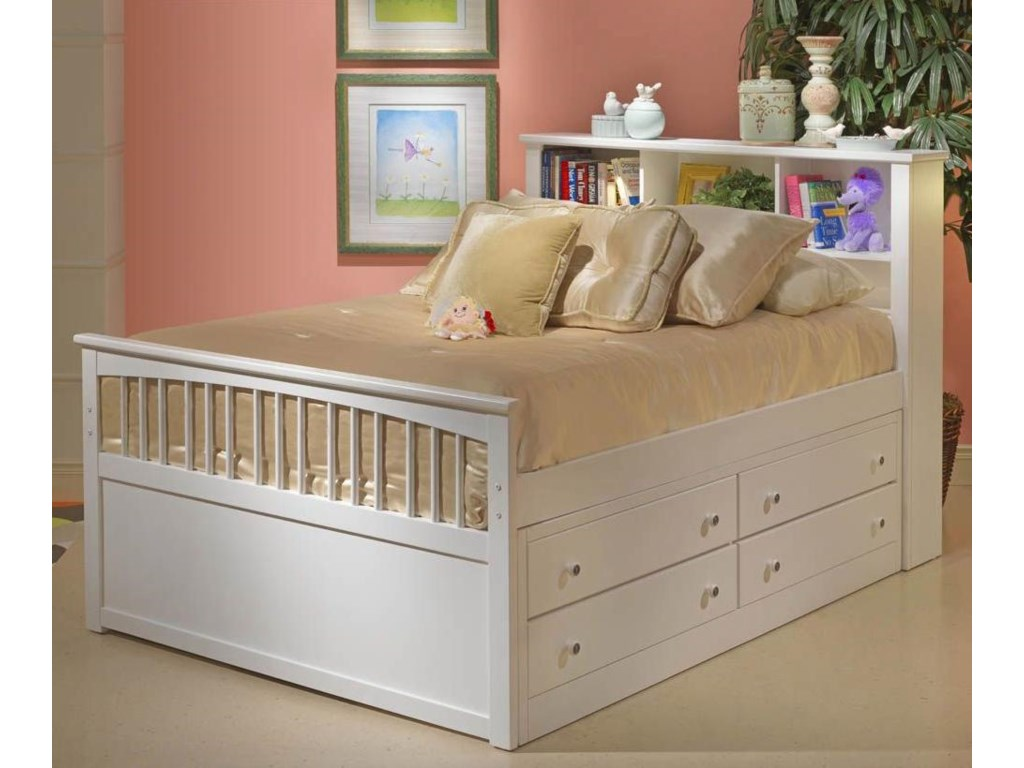 New Classic BayfrontTwin Captains Bed with No Storage