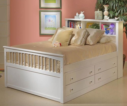 New Classic Bayfront Full Dual Storage Captain's Bed