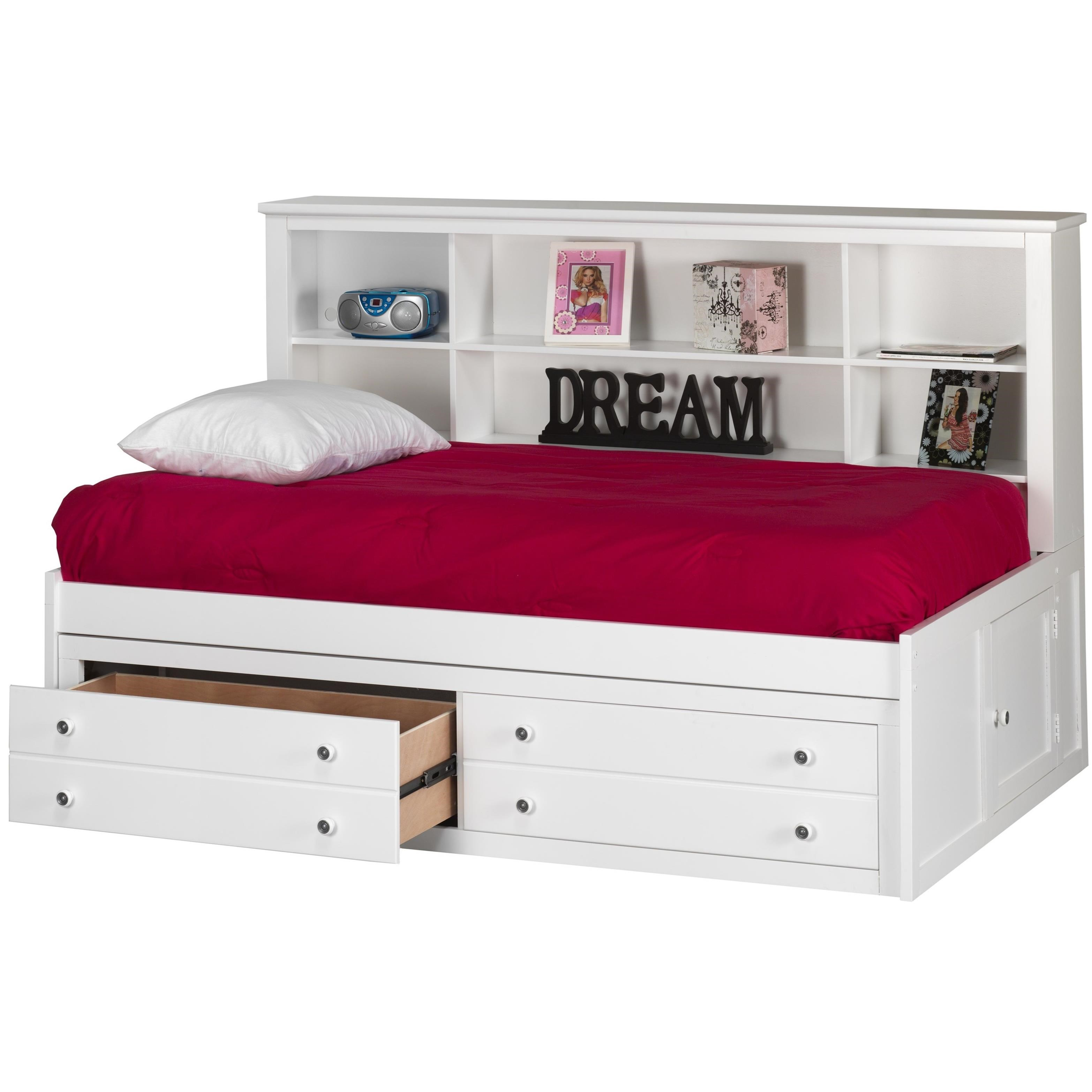 New Classic Bayfront Twin Lounge Bed With Bookcase Headboard