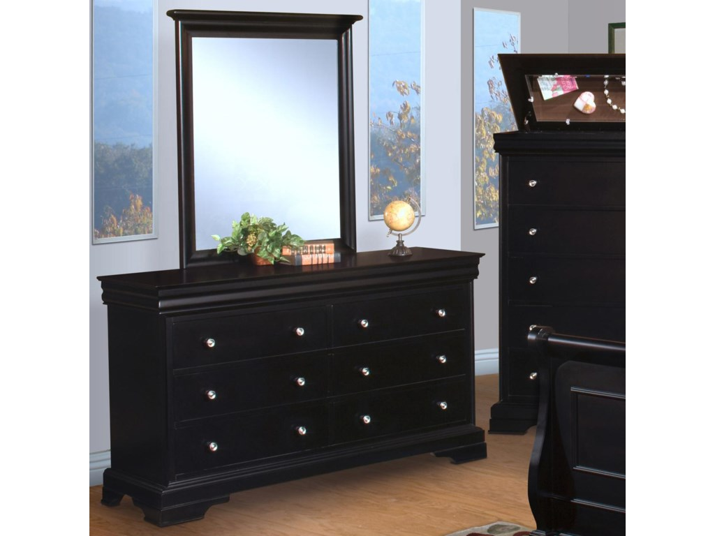 New Classic Belle Rose YouthDresser and Mirror