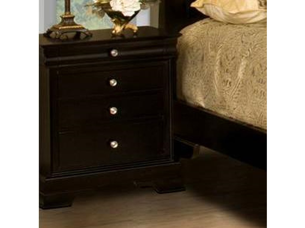 New Classic Belle Rose4-Drawer Night Stand