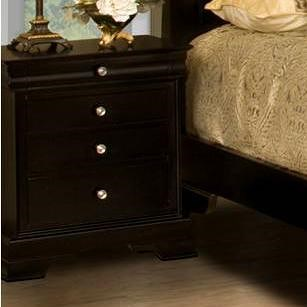 New Classic Belle Rose Four-Drawer Night Stand