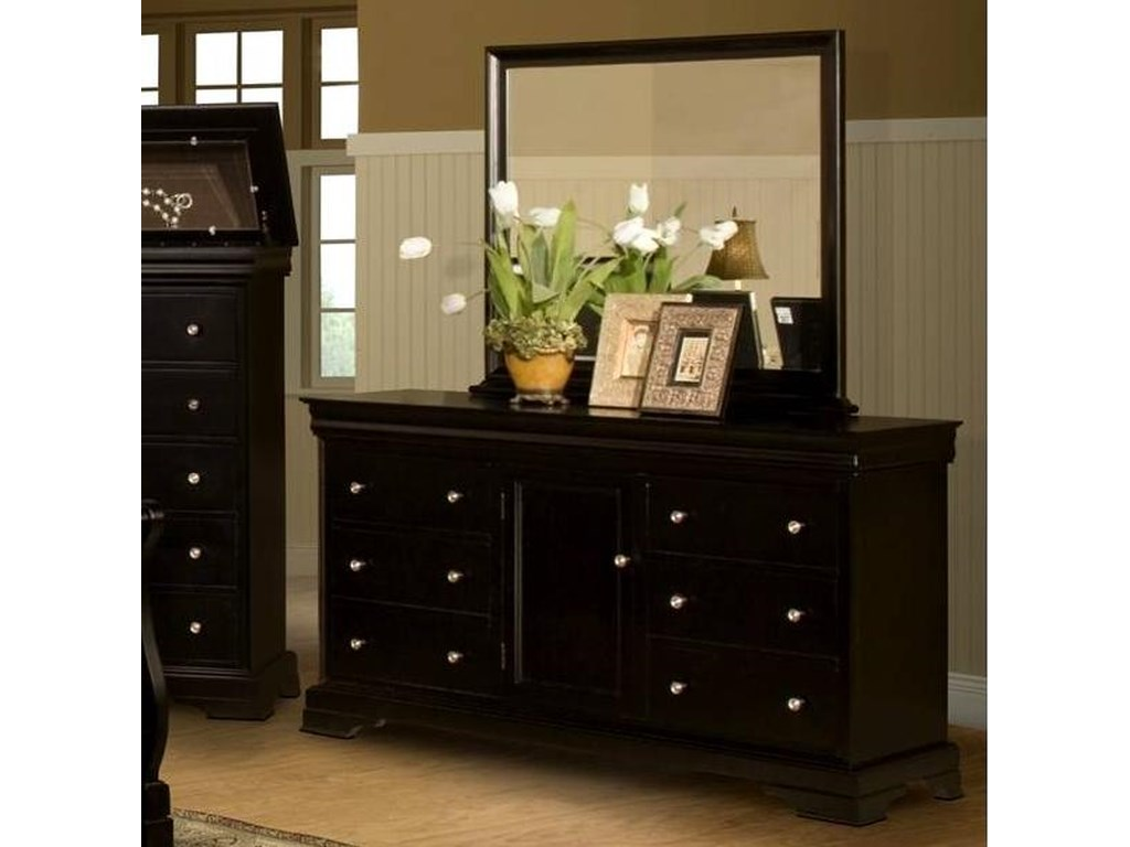 New Classic Belle RoseDresser with Mirror