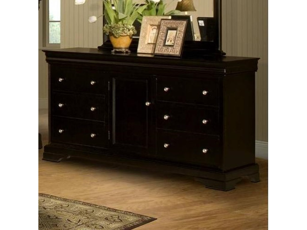 New Classic Belle RoseSix Drawer Dresser