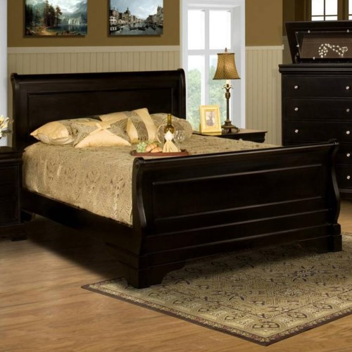 new classic belle rose queen sleigh bed | boulevard home furnishings