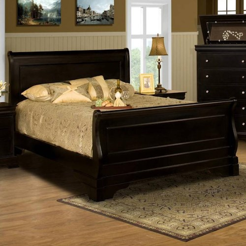 New Classic Belle Rose Queen Sleigh Bed