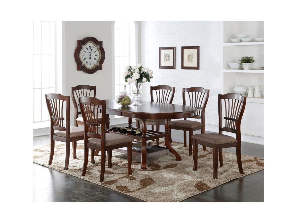 New Classic Bixby7 Piece Dining Table Set