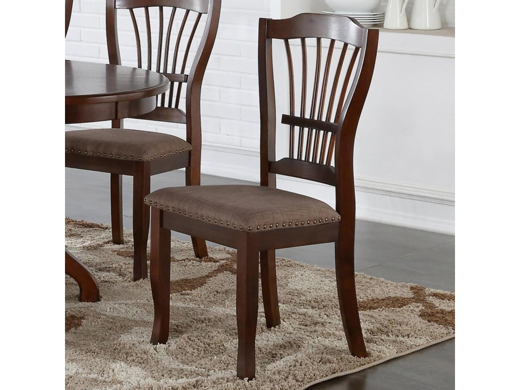 New Clic Bixby Dining Side Chair With Upholstered Seat Cushion And Nailhead Trim