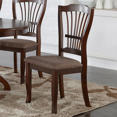 New Classic Bixby Dining Side Chair with Upholstered Seat Cushion and Nailhead Trim