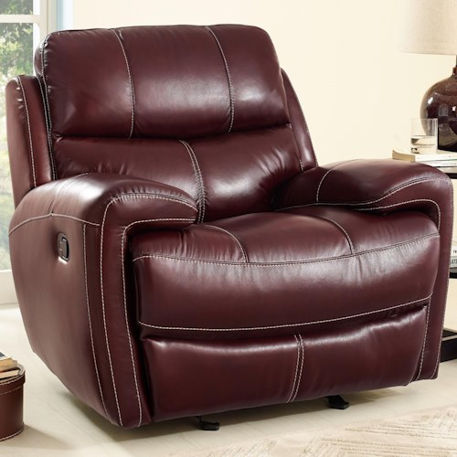 New Classic Boulevard Casual Power Glider Recliner with Full Chaise Cushion