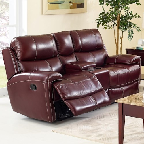 New Classic Boulevard Power Reclining Console Loveseat With Cup Holders Rife 39 S Home Furniture