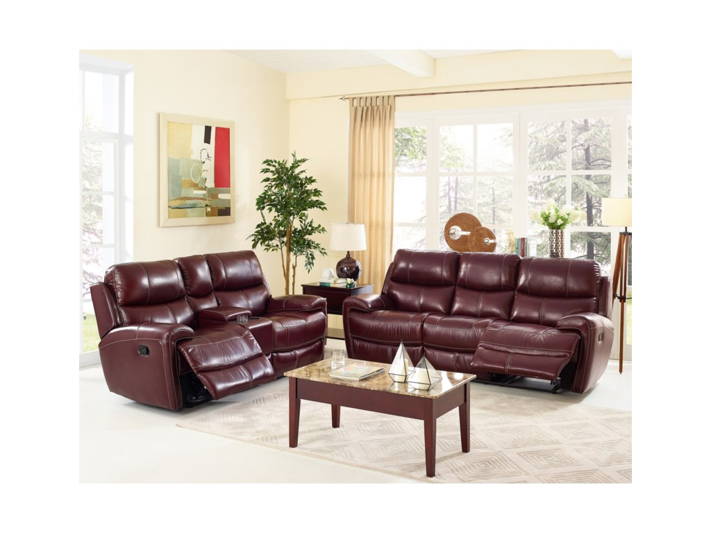New Classic BoulevardPower Reclining Console Loveseat