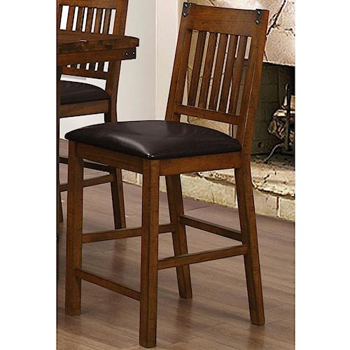 Counter stool with slat design buchanan by new classic wilcox furniture bar stool corpus - Classic bar counter design ...
