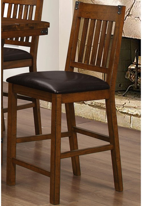 Counter Stool with Slat Design - Buchanan by New Classic - Wilcox ...
