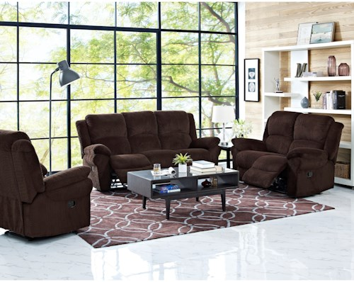 New Classic Cabot Power Reclining Living Room Group
