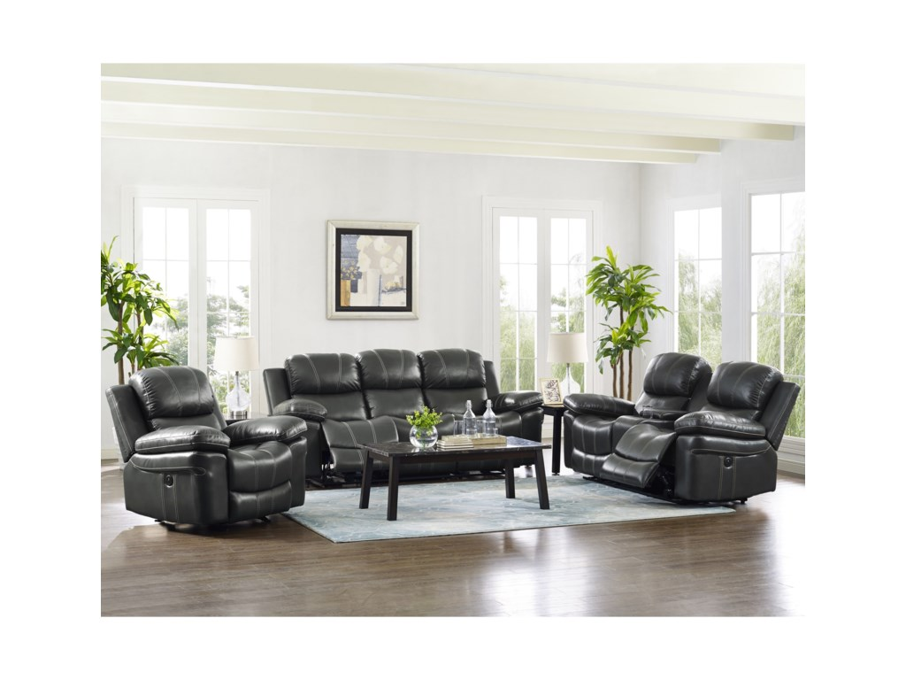 New Classic CadencePower Reclining Console Loveseat