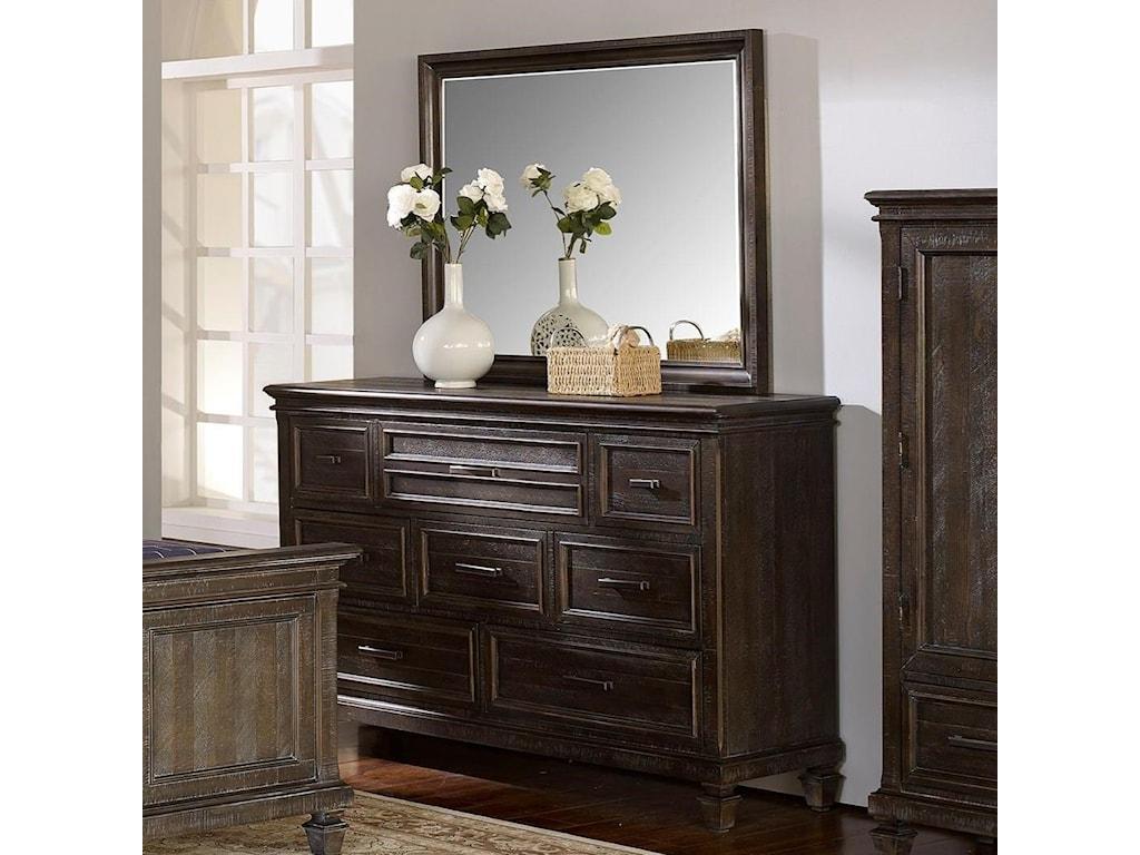 New Classic Cadiz BedroomDresser and Mirror