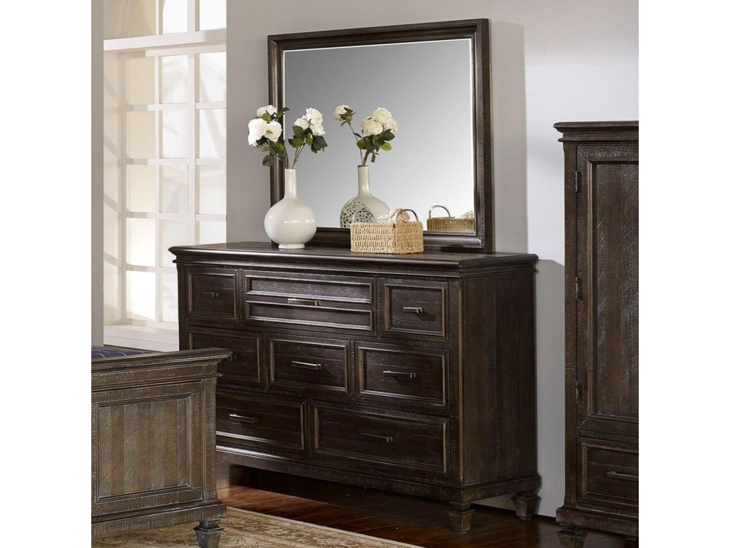 New Classic Cadiz BedroomDresser and Mirror
