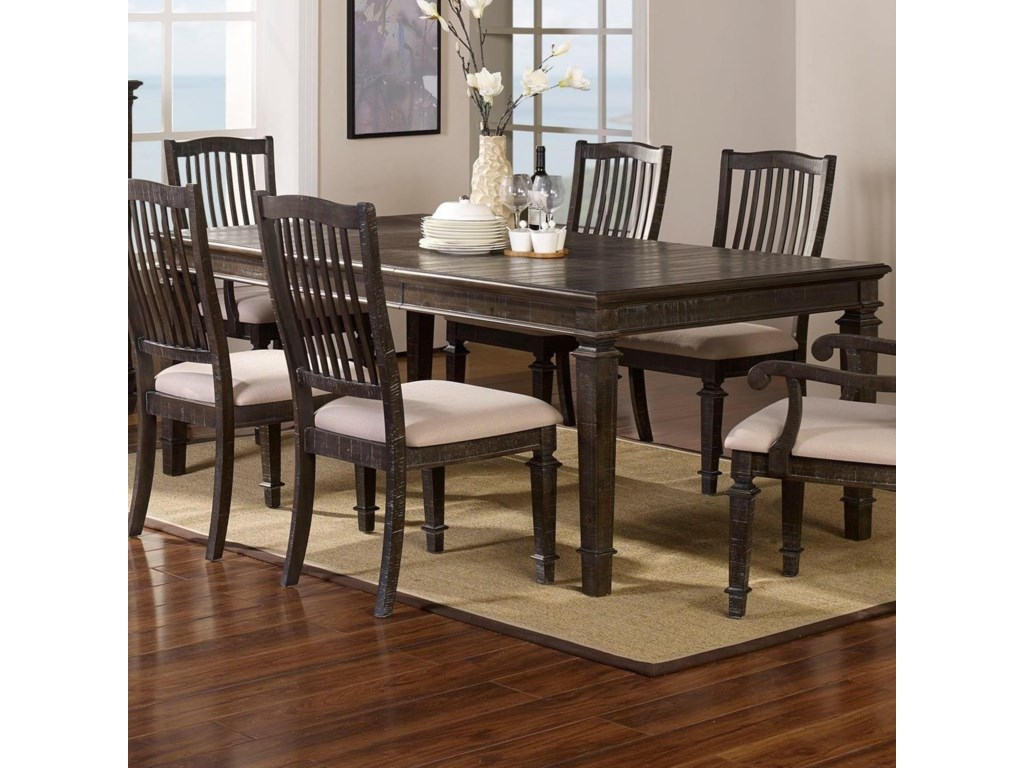 New classic cadiz dining transitional dining table with 18 leaf