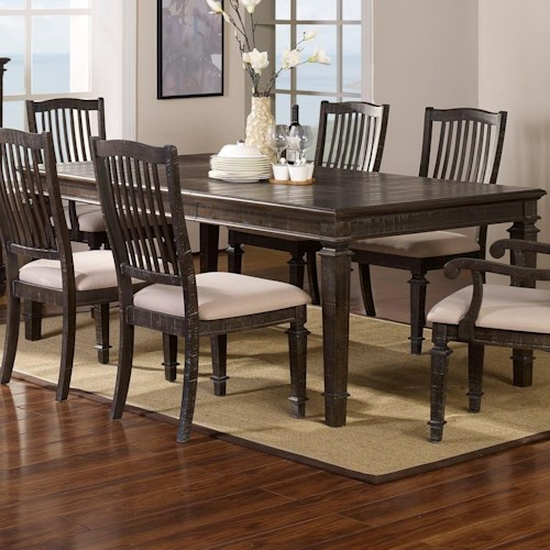 New Classic Cadiz Dining Transitional Dining Table with 18