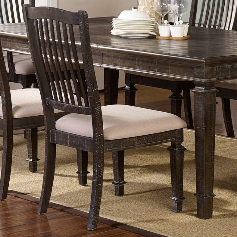 New Classic Cadiz Dining Transitional Splat Back Side Chair