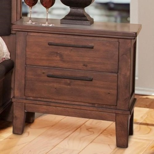New Classic Cagney Transitional 2 Drawer Nightstand