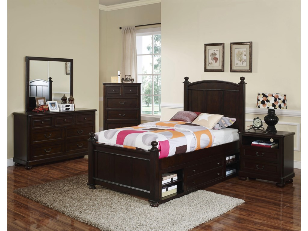 New Classic Canyon RidgeFull Panel Bed with Storage