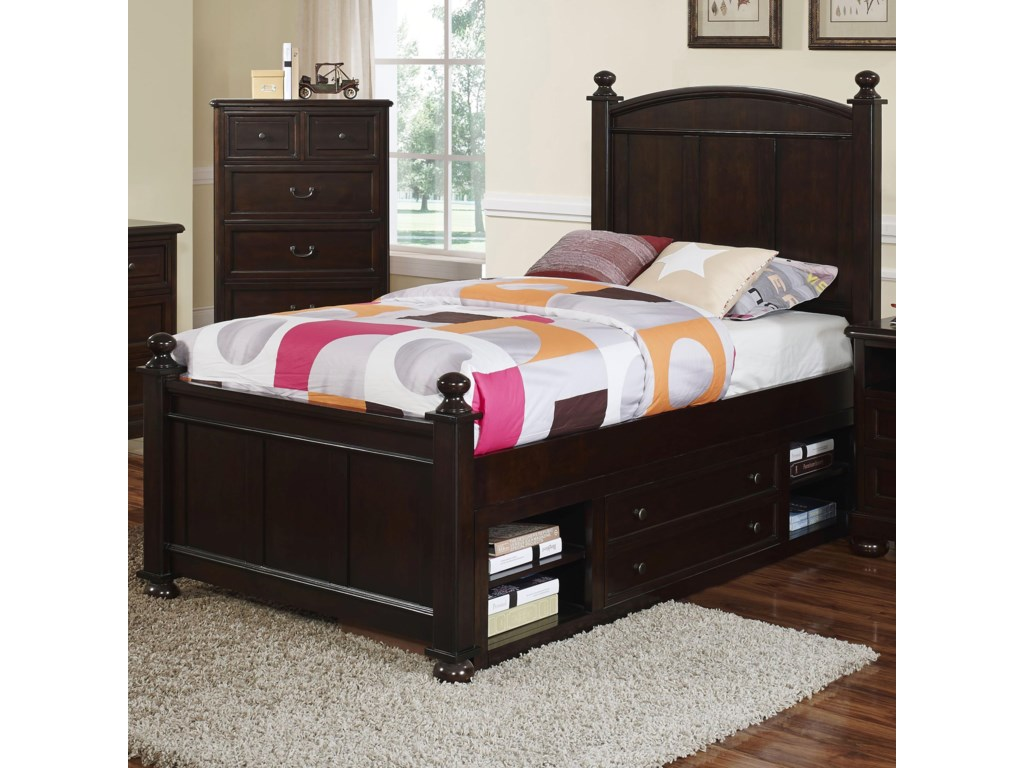 New Classic Canyon RidgeTwin Panel Bed with Storage