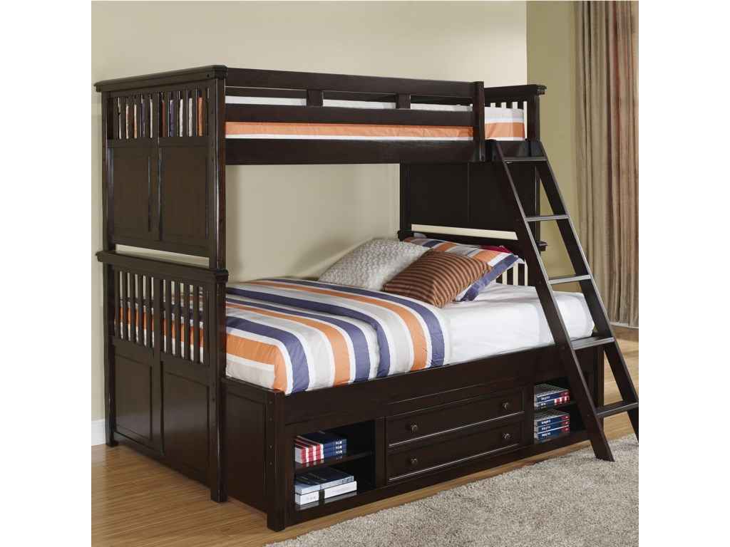 New Classic Canyon RidgeTwin/Full Bunk Bed with Storage