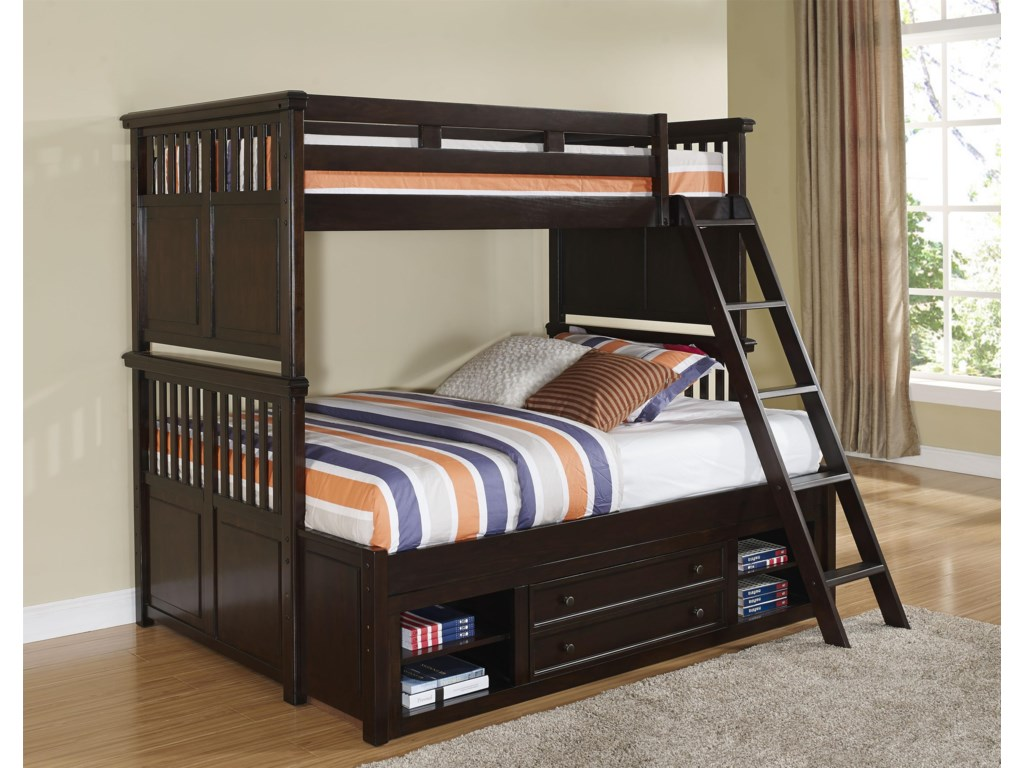 New Classic Canyon RidgeTwin/Twin Bunk Bed with Storage