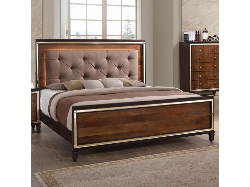 new classic claire king upholstered bed with tufted headboard