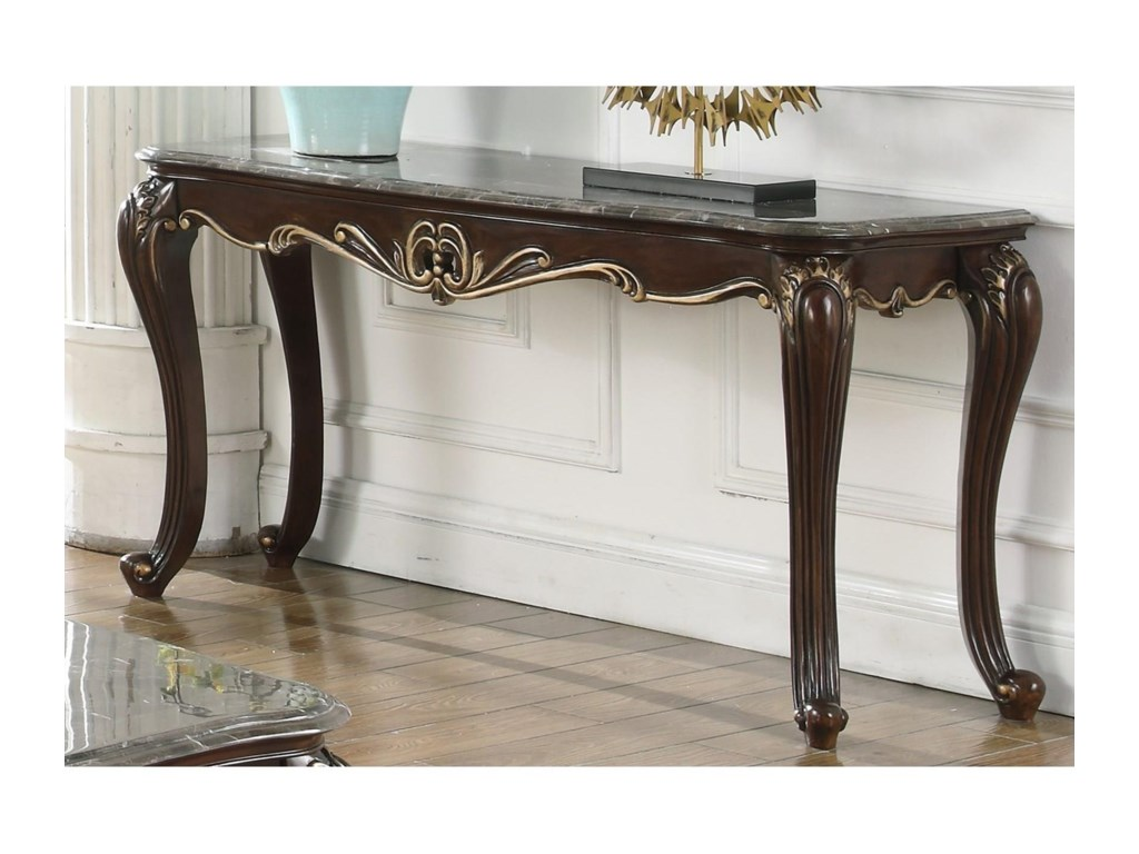 New Classic Constantine Traditional Console Table With Rolled Feet Royal Furniture Sofa Tables Consoles