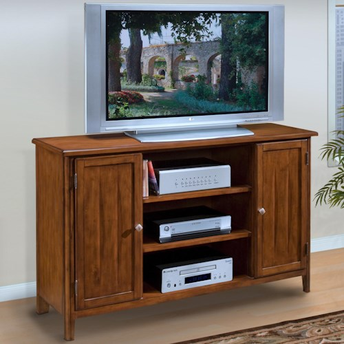 New Classic Crestline Entertainment TV Console with Doors and Shelves