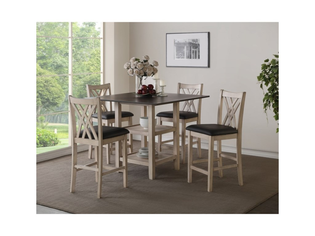 New Classic Paige5 Piece Counter Height Dining Set