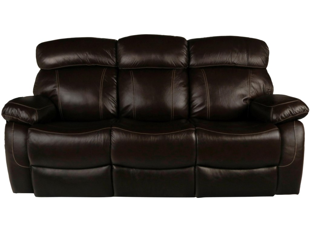 New Clic Dante Leather Reclining Sofa With Headrest