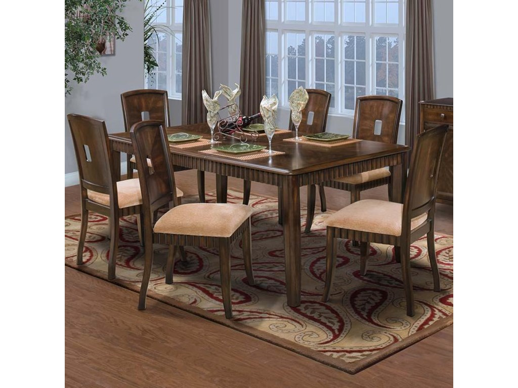 New Classic EdgemontStandard Rectangle Dining Table Set