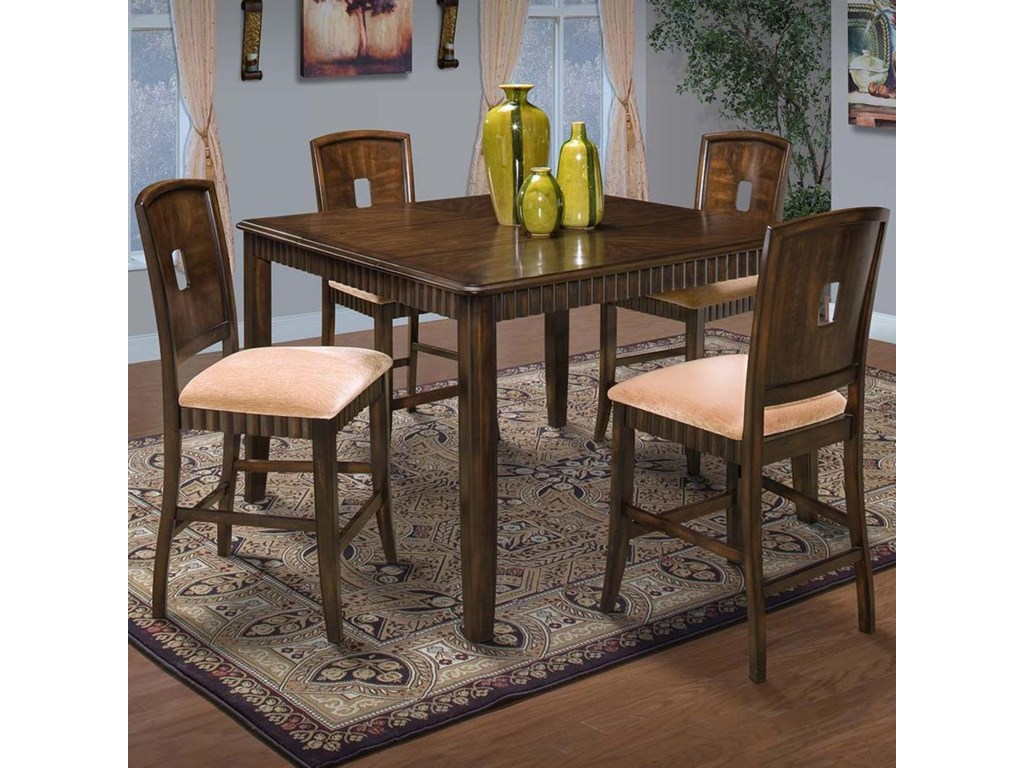 New Classic EdgemontCounter Dining Table and Chair Set